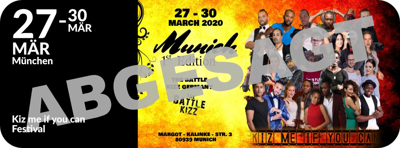 Workshops in München beim Kiz me if you can Festival vom 27. bis 30.3.20