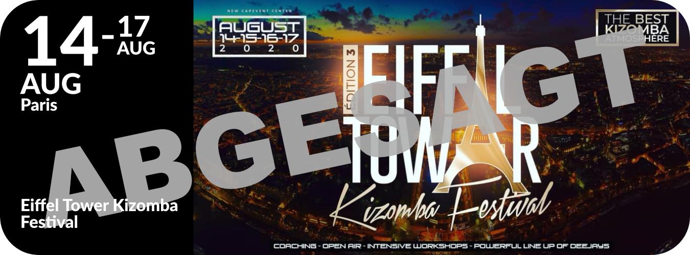 Workshops in Paris beim Eiffel Tower Kizomba Festival vom 14. bis 17.8.20